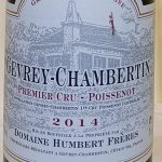 2014 Gevrey  Chambertin 'Poissenot' 1er Cru