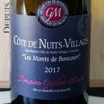 2017 Côte de Nuits Villages 'Les Monts de Boncourt'