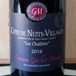2016 Côte de Nuits Villages 'Les Chaillots'